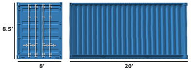 20ft Standard Container (max. 33 m3 lading)